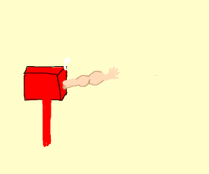 a mailbox with popeye's arm