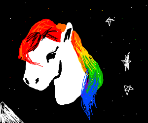 Horse tries rainbow hair and is pleased