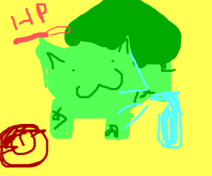 Bulbasaur in the healing centre