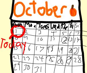 October 1 on a Sunday