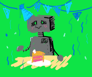 robot birthday party!!