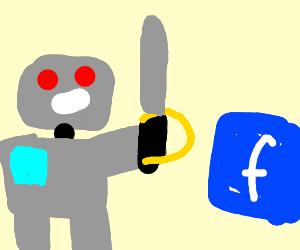 Robot imaples Facebook
