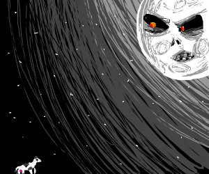 Evil moon from major's mask pressures a cow