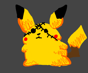 Pikachu has no eyes