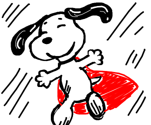 Snoopy with a cape