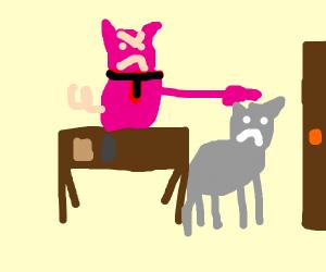 Porky Pig fires Tom the cat