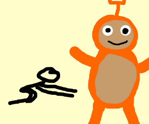 Bow down to the orange teletubby
