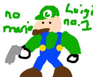Luigi has a gun
