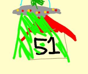 An alien ready to raid area 51