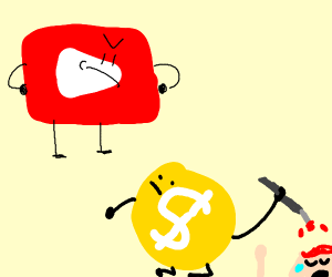youtube is mad at demonetized sign