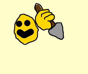 emoji with a spear
