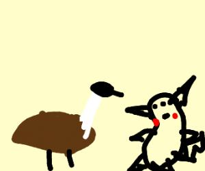 Goose and Buff Pikachu flirt.