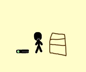 a stickman is sad because he hav novideogames