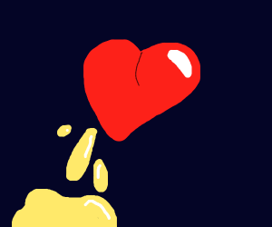 a heart that lost yellow blood