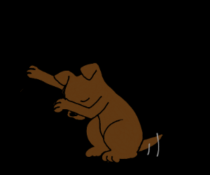 dog dabbing