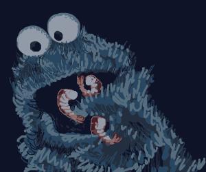 Cookie Monster tries Seafood