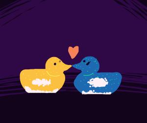 Two tiny peeps love