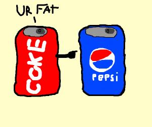 Coke calling Pepsi fat
