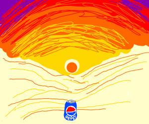 Pepsi that's been left out in the sun