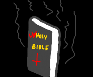 Holy bible turned evil
