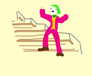 That Joker dancing on stairs meme