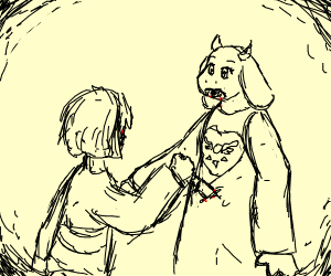toriel gets killed by child murderer