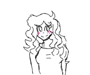 Anime Curly Hair Girl