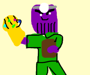 Doctor Thanos in his medical scrubs