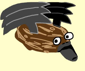 Flying platypus potato with wings