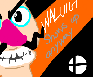 Waluigi shows up for Smash Bros.