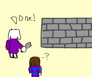 toriel builds a wall