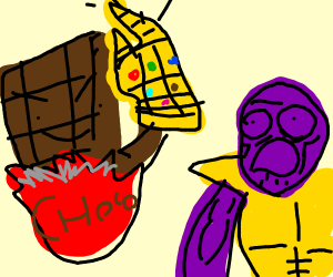 Chocolate gets Thanos snapped