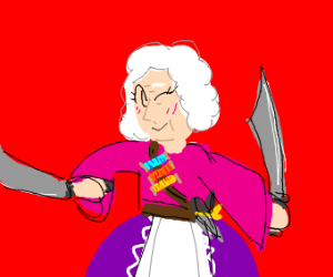 Dual wielding grandma