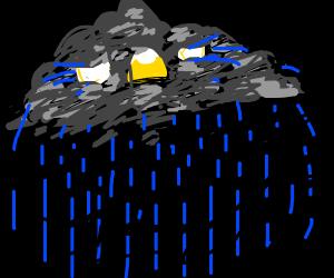 Sad storm cloud