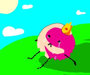 Gum ball king crying