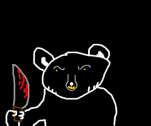 creepy black bear