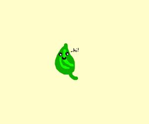 KAWAII leaf says hello