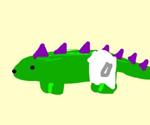 stegosaurus in a diaper
