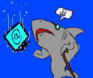 Shark hates the internet