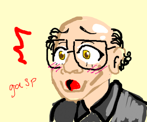 Danny Devito but with anime eyes