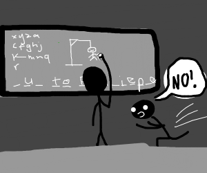guy trying to save someone who failed Hangman