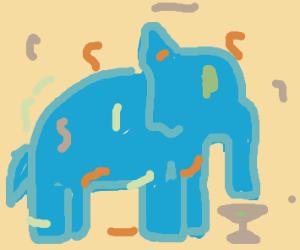 Elephant Celebrates a party