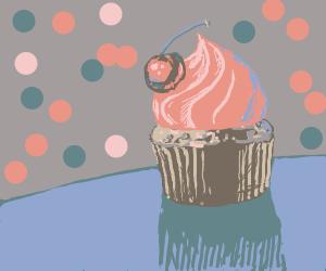 Aesthetic cherry cupcake