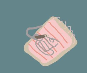 Notepad draws cake on itself