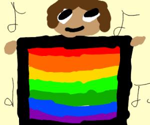 Gay boy dancing