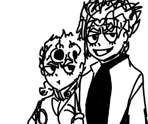 Draw a jojo character with their dad
