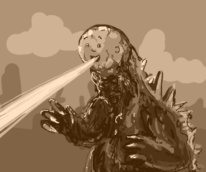Godzilla with Caliou's face