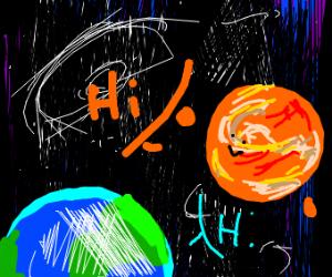 Mars waving at Earth