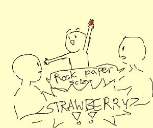 rock paper scizors strawberry
