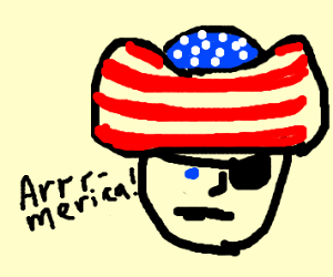 Pirate representing America